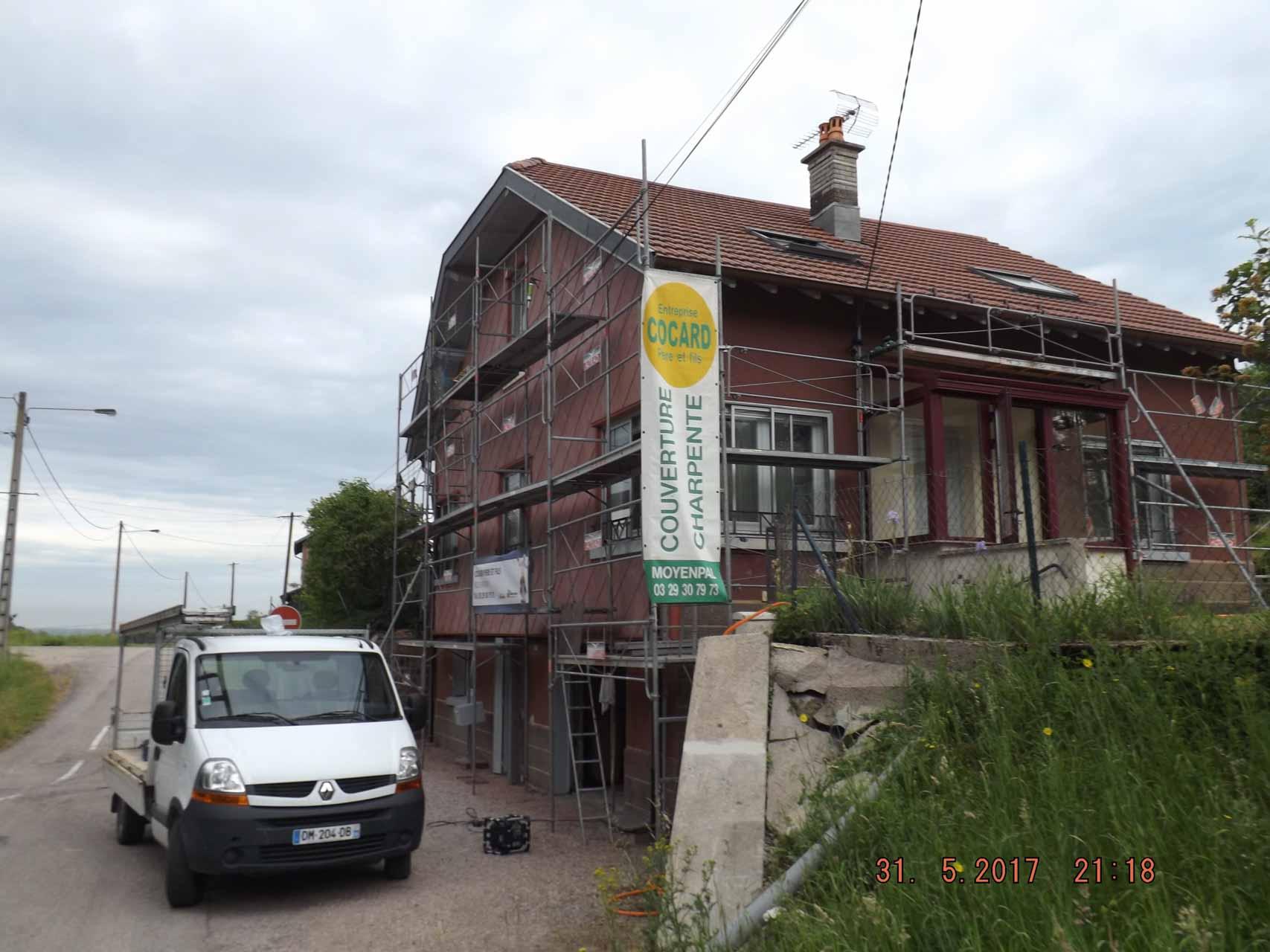 Entreprise de charpente, couverture, rénovation intérieure, maçonnerie, peinture et ravalement à Xertigny - Cocard et Fils (166)